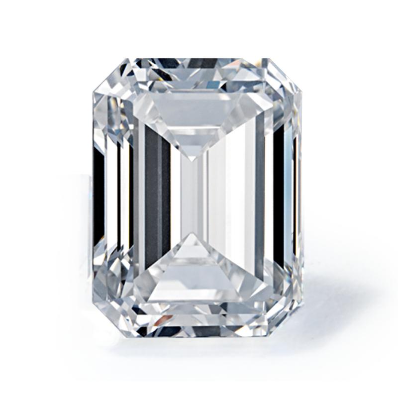 3.01 carat Emerald Diamond, Very Good cut, graded by the GIA laboratories.