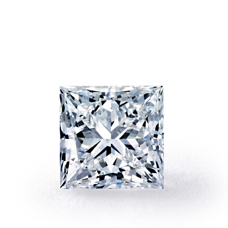 .38 carat Princess Diamond, Very Good cut, graded by the GIA laboratories.