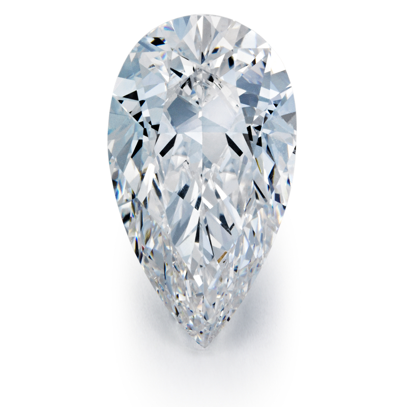 1.02 carat Pear Diamond, Very Good cut, graded by the GIA laboratories.