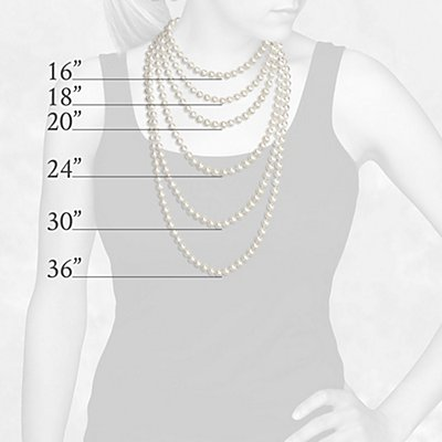 Longitud del collar de perlas
