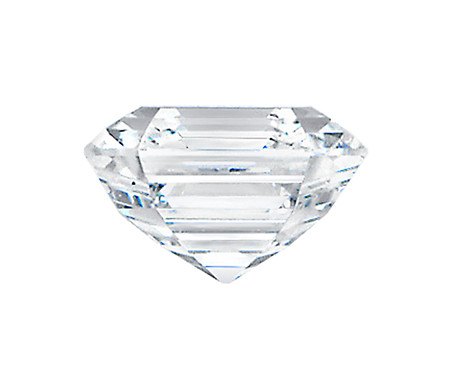 Sample side view of diamond