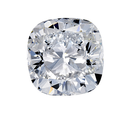 Sample top view of diamond