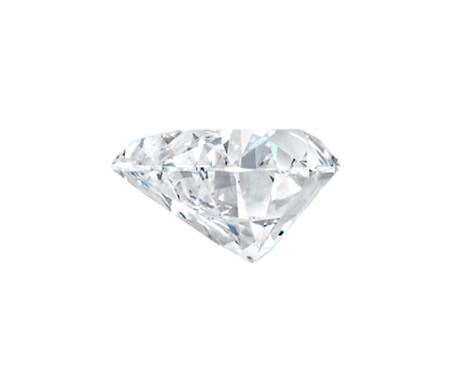 Vue exemple latérale du diamant