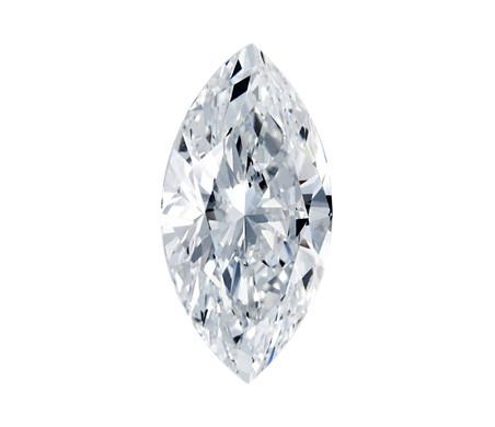 Vue exemple du dessus du diamant