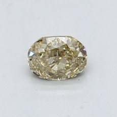 0.54-Carat Brownish Yellow Oval Cut Diamond