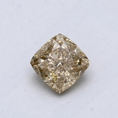 0,56-Carat Brown-yellow Cushion Cut Diamond