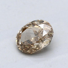 0,88-Carat Brown-yellow Oval Cut Diamond