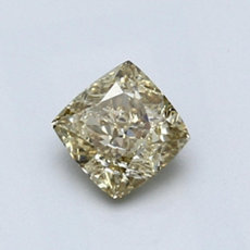 0,70-Carat Brownish Yellow Cushion Cut Diamond