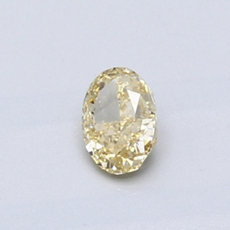 0.39 克拉橙黄椭圆形切割钻石