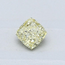 0.51-Carat Yellow Cushion Cut Diamond