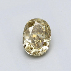 0.64-Carat Brownish Yellow Oval Cut Diamond