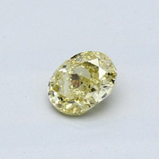 0.40-Carat Intense Yellow Oval Cut Diamond