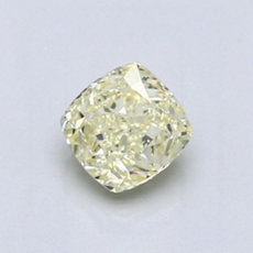 0,70-Carat Light Yellow Cushion Cut Diamond