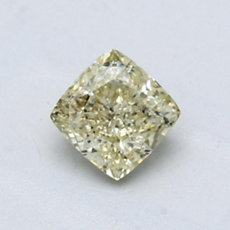 0,74-Carat Grayish Greenish Yellow Cushion Cut Diamond