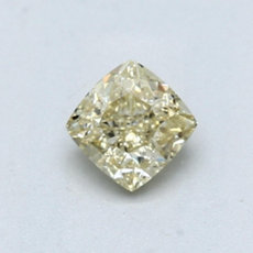0.62-Carat Light Brownish Yellow Cushion Cut Diamond