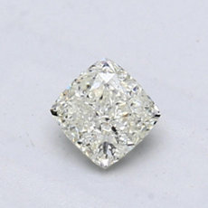 0.63-Carat Very Light Green-yellow Cushion Cut Diamond