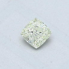 0.35-Carat Very Light Green-yellow Cushion Cut Diamond