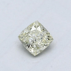 0.51-Carat Light Green-yellow Cushion Cut Diamond
