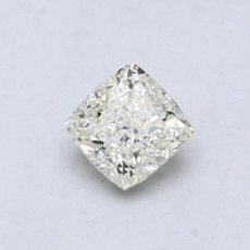 0.58-Carat Very Light Green-yellow Cushion Cut Diamond