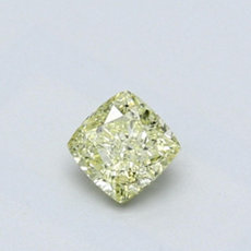 0.41-Carat Green-yellow Cushion Cut Diamond