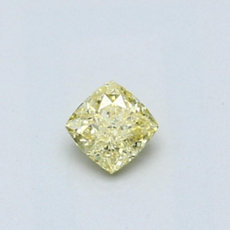 0,29-Carat Intense Yellow Cushion Cut Diamond