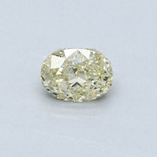 0,44-Carat Yellow Oval Cut Diamond