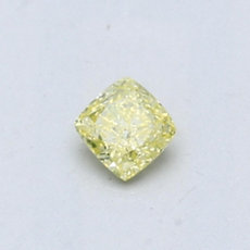 0.29-Carat Greenish Yellow Cushion Cut Diamond