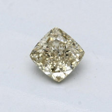 0.50-Carat Brownish Greenish Yellow Cushion Cut Diamond