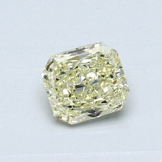 0.50-Carat Light Yellow Radiant Cut Diamond