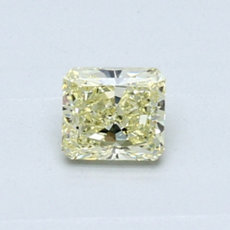 0.45-Carat Light Yellow Radiant Cut Diamond