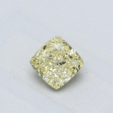0,44-Carat Yellow Cushion Cut Diamond