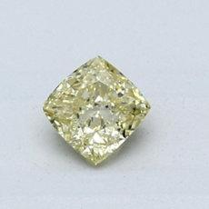 0.56-Carat Yellow Cushion Cut Diamond