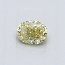 0,47-Carat Yellow Oval Cut Diamond