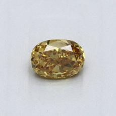 0,47-Carat Deep Brownish Orangy Yellow Oval Cut Diamond