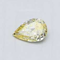 0,43-Carat Intense Yellow Pear Shaped Diamond