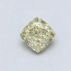 0.54-Carat Light Yellow Cushion Cut Diamond