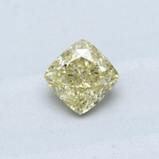 0.44-Carat Yellow Cushion Cut Diamond