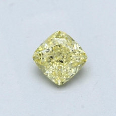 0,47-Carat Intense Yellow Cushion Cut Diamond