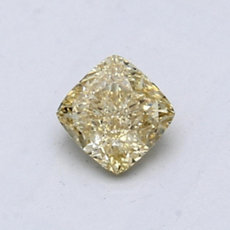 0,58-Carat Brownish Yellow Cushion Cut Diamond