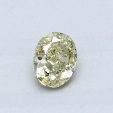 0.54-Carat Brownish Greenish Yellow Oval Cut Diamond