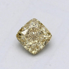 0.62-Carat Brownish Yellow Cushion Cut Diamond