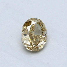 0.53-Carat Brownish Yellow Oval Cut Diamond