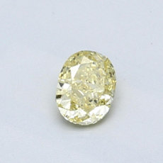 0,41-Carat Intense Yellow Oval Cut Diamond