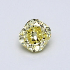 0,58-Carat Intense Yellow Cushion Cut Diamond