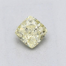 0,53-Carat Light Yellow Cushion Cut Diamond
