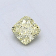0.63-Carat Light Yellow Cushion Cut Diamond