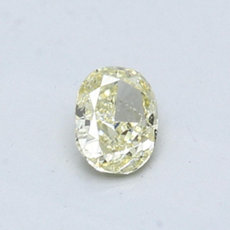 0.44-Carat Yellow Oval Cut Diamond