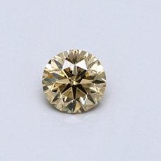 0.31 克拉黄色圆形切割彩钻