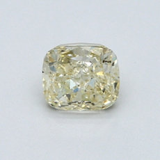 0,80-Carat Yellow Cushion Cut Diamond