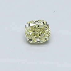 0,32-Carat Light Yellow Cushion Cut Diamond